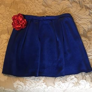 Worthington Blue Velvet Skater Skirt